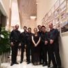 Der Leiter des Festivals mit den Vier EvangCellisten, Wei Yang und Yimeng Xi nach dem Ensemblekonzert (Foto: Archiv)