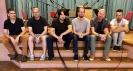 Die Vier EvangCellisten mit Harald Oeler (Zweiter von rechts, Bajan (Knopfakkordeon)) & Thomas Liebmann (ganz links) von