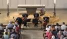 Die Vier EvangCellisten in der Christkönigskirche in Fürth 2014 (Foto: Archiv)