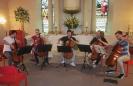Probe der Vier EvangCellisten und Florian Bischof für das Konzert innerhalb der