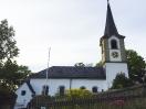 Die Evangelische Kirche in Hallerstein (Stadteil von Schwarzenbach an der Saale) vor dem Konzert der Vier EvangCellisten 2016. (Foto: Archiv)