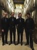 Die Vier EvangCellisten nach ihrem Konzert in Ravensburg 2016 (innerhalb der