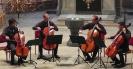 Die Vier EvangCellisten während ihres Konzertes in Selb 2016 (innerhalb der