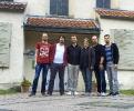 Die Vier EvangCellisten nach dem Workshop und Konzert in Hitzacker 2016 mit Ilka Wagener und Florian (Foto: Archiv)